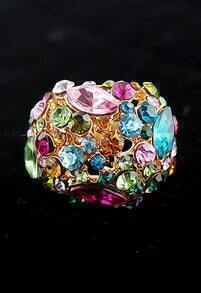 Multi Gemstone Gold Fashion Ring