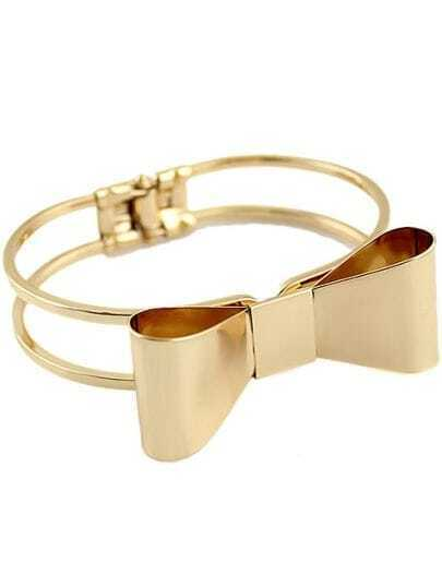 Gold Bow Hollow Bracelet