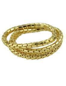 Gold Multilayers Chain Bracelet