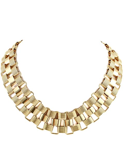 Gold Chain Collar Necklace