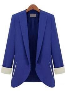 Blue Long Sleeve Slim Fashion Blazer