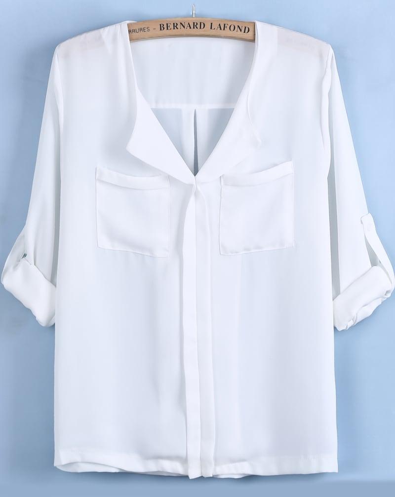 Блузка Из Белого Шифона С Доставкой