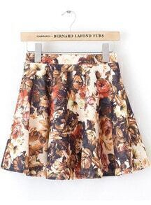 Apricot Vintage Floral Ruffle Skirt