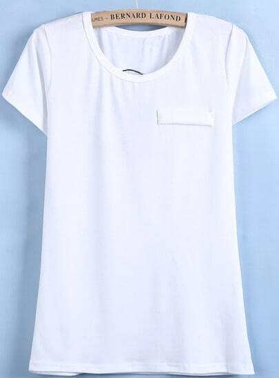 White Short Sleeve Hollow Skull Slim T-Shirt