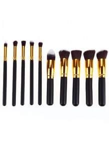 Gold Pro Foundation Blush Blending Eye Shadow Makeup Brush Set Cosmetics Tool