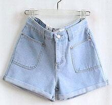 Blue High Waist Pocket Pant