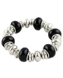 Black Gold Bead Elastic Bracelet