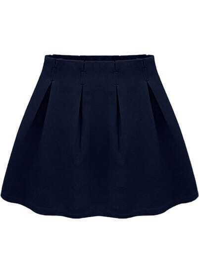 Navy Casual Ruffle Skirt