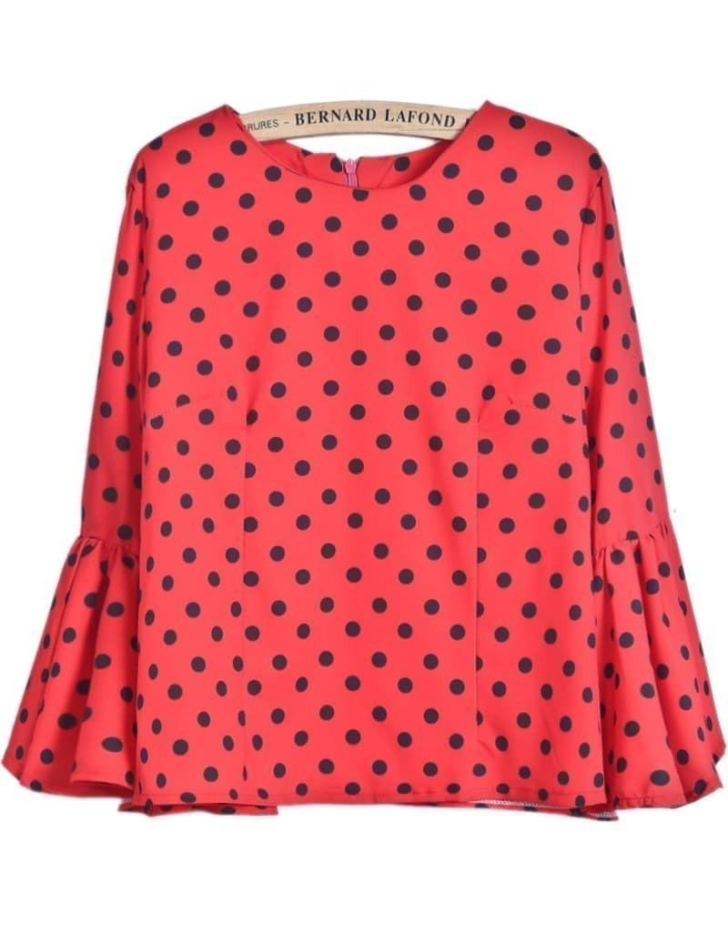 Купить Красную Блузку В Горох