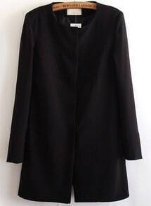 Black Long Sleeve Single Breasted Coat