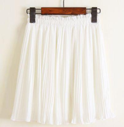 White Ruffle Chiffon Skirt