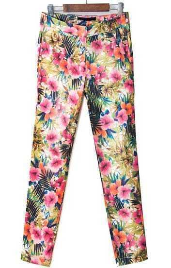 Multicolor Florals Print Pant