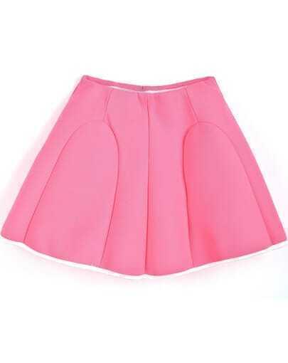 Falda plisada simple-rosado