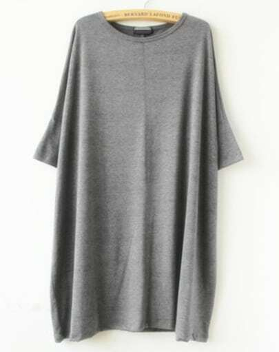 Grey Short Sleeve Loose T-shirt