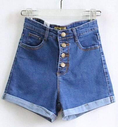 Blue High Waist Denim Pant