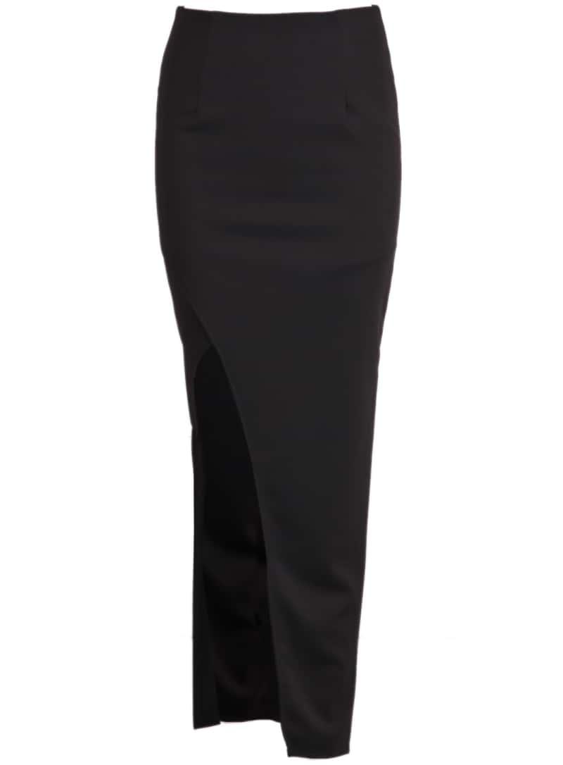 longue jupe moulante fendue noir french shein sheinside. Black Bedroom Furniture Sets. Home Design Ideas