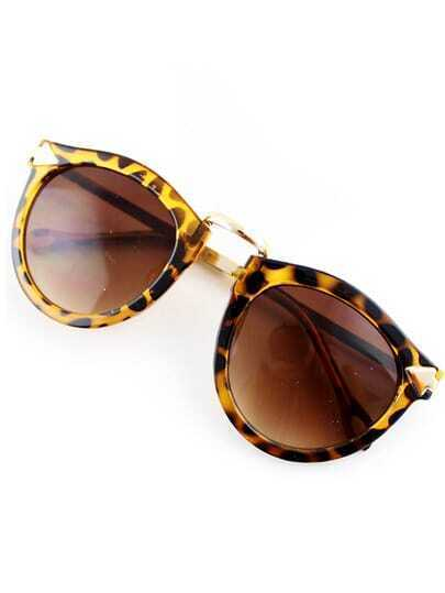 Yellow Lenses Leopard Sunglasses