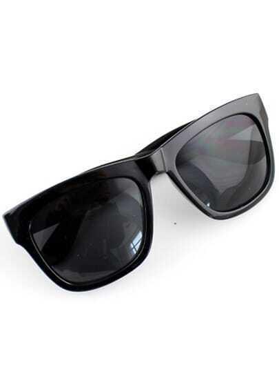 Black Lenses Glossy Sunglasses