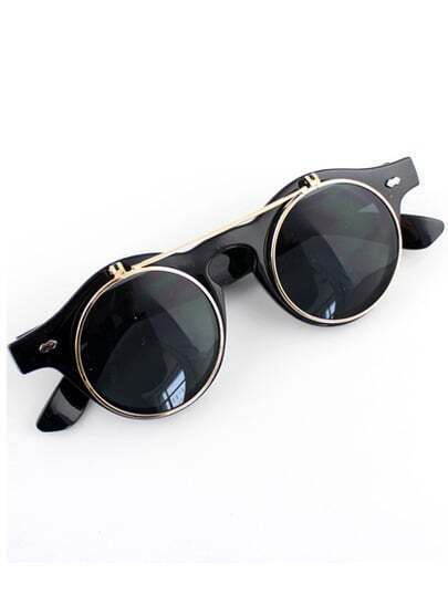 Black Double Layered Sunglasses
