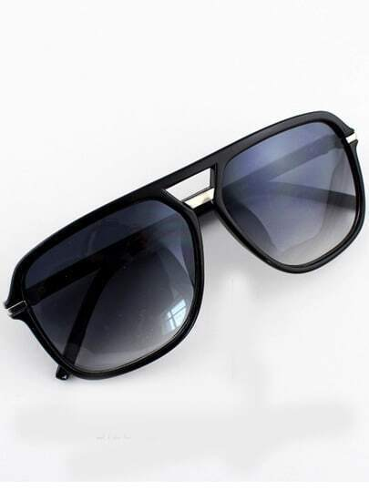 Purple Lenses Black Rim Sunglasses