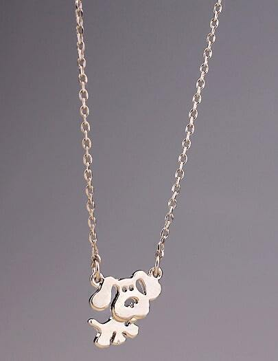 Gold Hollow Dog Chain Necklace