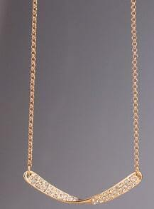 Gold Diamond Winding Stick Necklace