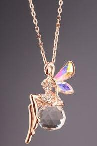 Gold Diamond Angel Necklace
