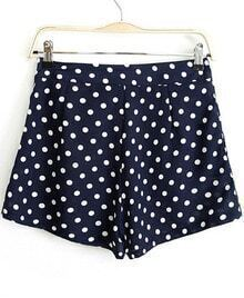 Navy Polka Dot Loose Shorts