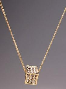 Gold Diamond Box Chain Necklace