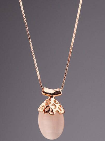 White Gemstone Gold Fruit Necklace