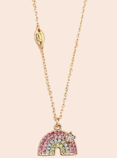 Multicolor Gemstone Gold Rainbow Necklace