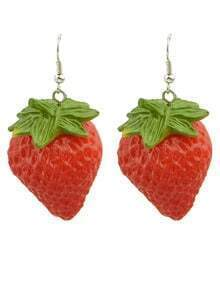 Red Strawberries Dangle Earrings