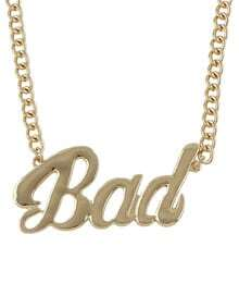 Gold Bad Chain Necklace