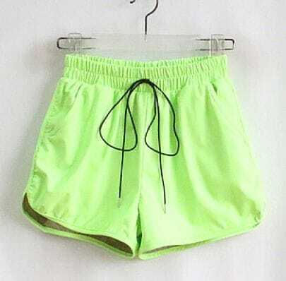 Fluorescent Green Drawstring Pant