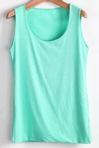 Mint Green Simple Style Vest