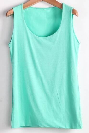 Mint Green Simple Style Vest