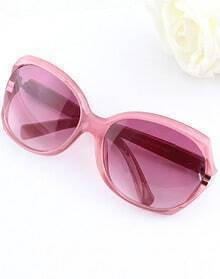Pink Lenses White Rim Sunglasses