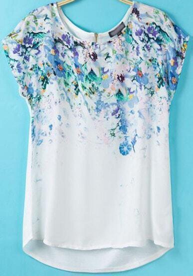 T-Shirt trapèze motif floral
