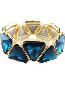 Blue Gemstone Gold Geometric Bracelet