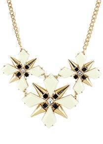 Gold Rivet Geometric Chain Necklace