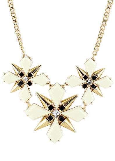 Gold Rivet Geometric Chain Necklace