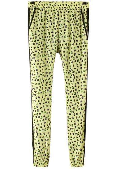 Yellow Leopard Print Loose Pant