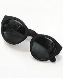 Black Lenses Round Sunglasses