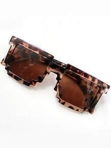 Fashion Leopard Geometric Sunglasses