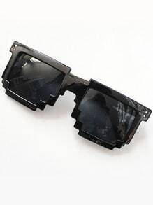 Fashion Black Geometric Sunglasses
