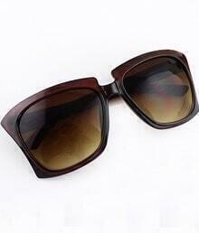 Brown Chunky Rim Sunglasses