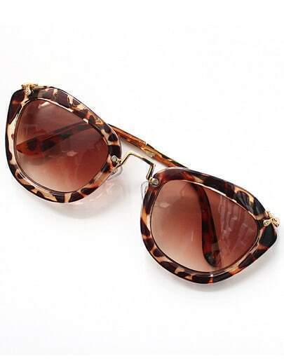 Leopard Rim Brown Sunglasses