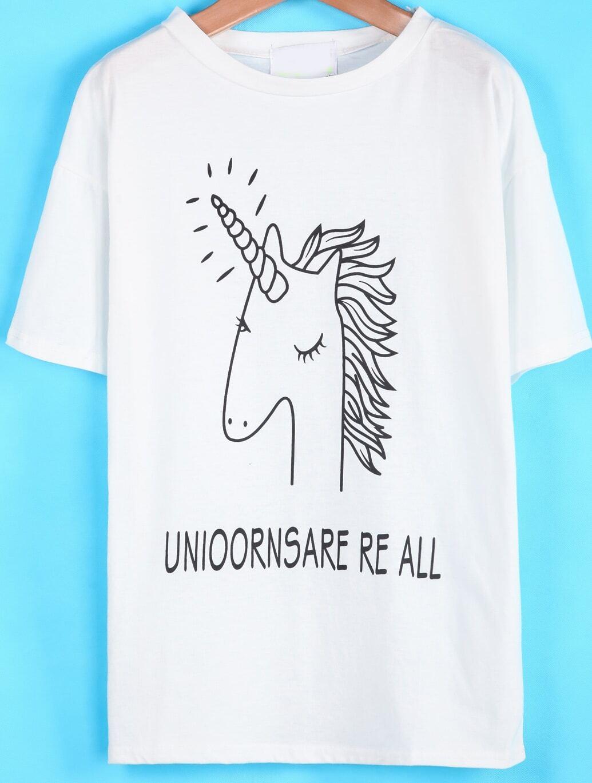 Camiseta allover unicornio - Manga corta - Camisetas