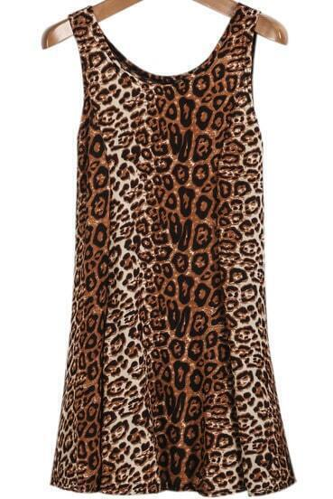 Leopard Sleeveless Sexy Tank Dress