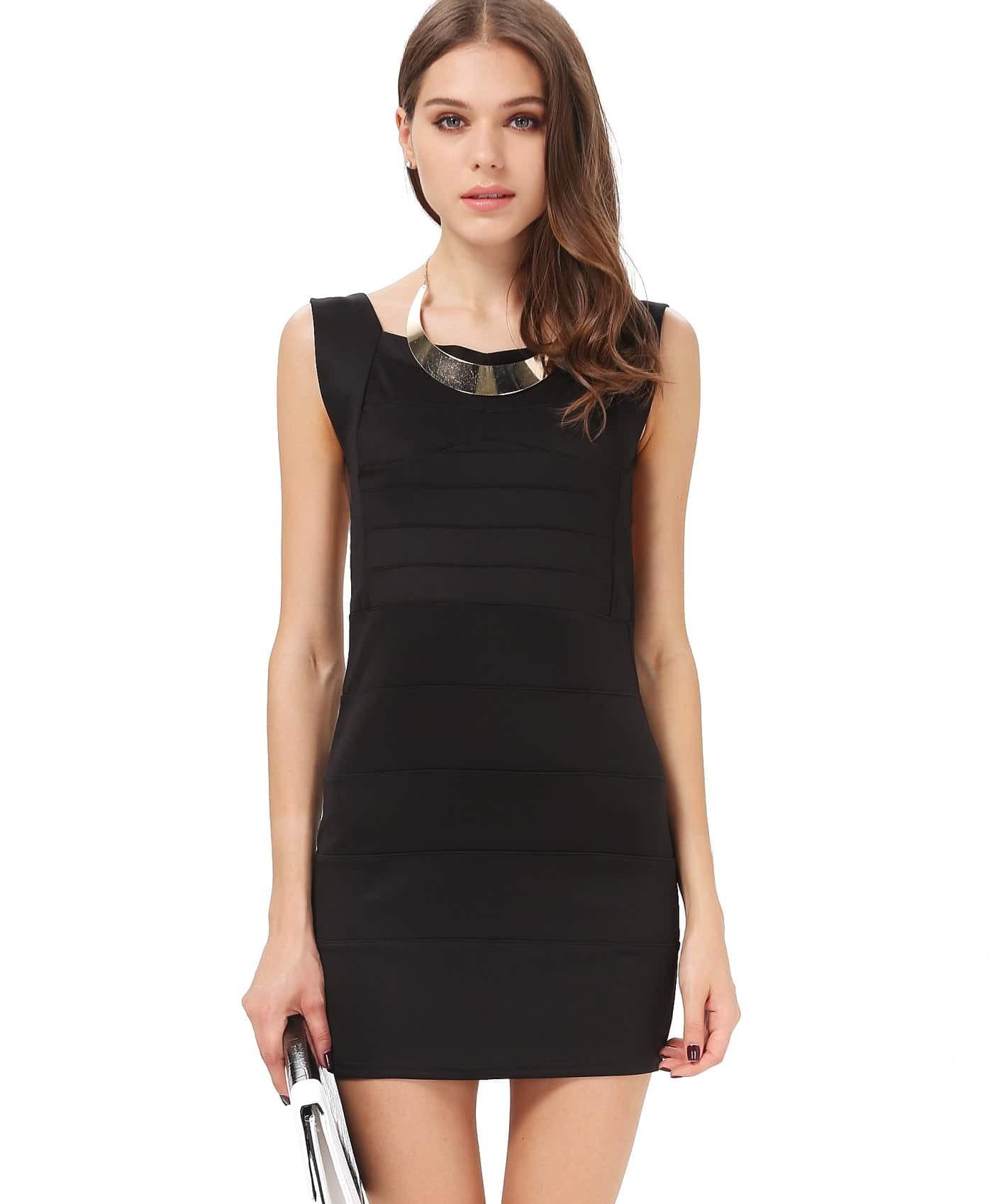 rückenfreies Kleid mit V-Ausschnitt, schwarz- German SheIn ...